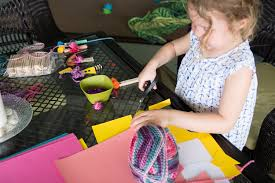 kids crafts create a recycled village love taza