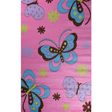 Fun Rugs For Kids Amazon Com Glam Collection Butterfly Design Area Rug For Kid U0027s