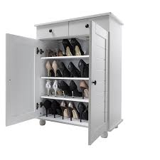 White Shoe Storage Cabinet Shoe Storage Cabinet Deluxe With Storage Drawer Heathfield In