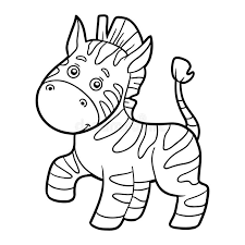coloring book coloring zebra stock vector image 70280987