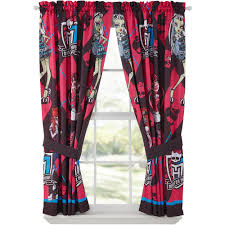 Monster High Bedroom Decorating Ideas by Monster High Drapes Set Of 2 Walmart Com
