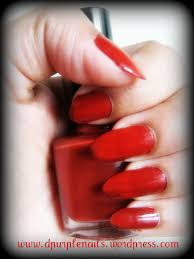 red nails got a style