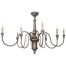 Chandelier Metal Italian Silver Gilt Metal Chandelier At 1stdibs