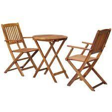 wooden patio 3 piece table u0026 chair sets ebay
