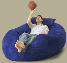 oversized bean bags filled with love and foam