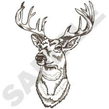 whitetail deer head embroidery designs machine embroidery designs