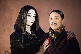wednesday addams thanksgiving quote halloween dreams come true robin and carly as morticia and gomez