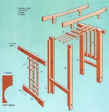 wedding arch blueprints cedar arbor plans landscape structures yard