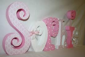 decorative nursery letters wood letters 6 letter set