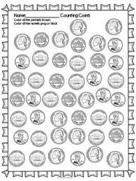 10 best images of penny coins money worksheets dimes counting