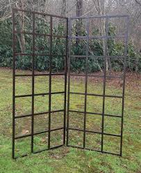 Obelisk Trellis Metal Grid Trellises Can Be Configured To Fold Or Stand On A Patio