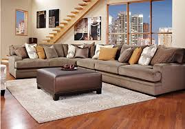 Sectional Sofas Rooms To Go by Cindy Crawford Home Fontaine 5 Pc Sectional Living Room Living