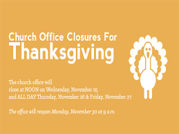 office closed for thanksgiving south suburban christian