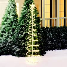 Lighted Trees Home Decor by Holiday Time 6 U0027 Lighted Spiral Christmas Tree Sculpture Clear