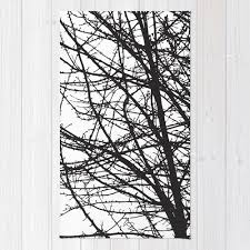 Area Rug Bedroom Contemporary Black And White Tree Branches Area Rug Modern