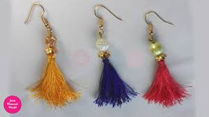 easy earrings diy tassel earrings easy with silk thread tutorial