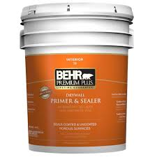 home depot 5 gallon interior paint behr premium plus 5 gal interior drywall primer and sealer 07305