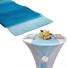 teal chair sashes 75pcs teal blue organza sash table runner chair sashes table