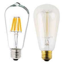 light bulb shaped l st18 led filament bulb 60 watt equivalent vintage light with regard
