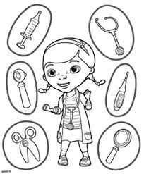 Various Medical Tools To Use Coloring Page Coloring Sky Tools Coloring Page
