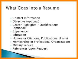 11 what goes on a resume job apply form