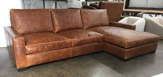 Leather Sofa With Chaise Braxton Sofa Sectional With Chaise Italian Brentwood Leather