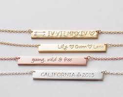 personalized engraved necklace 20 name plate necklace personalized engraved name bar
