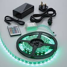 5 metre 300 led rgb 5050 lights kit ip20 with power supply