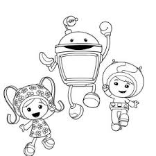 geo milli hug bot team umizoomi coloring color luna