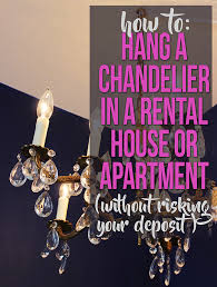 Artsy Chandeliers Diy How To Turn A Hardwired Light Fixture I E A Chandelier