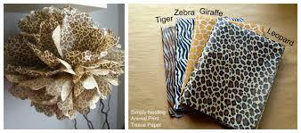 zebra tissue paper animal print tissue paper pom pom tiger giraffe zebra