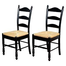 Ladder Back Dining Chairs Ladder Back Dining Chairs Wood Black Set Of 2 Tms Target