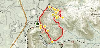 bryce map pdf navajo loop and s garden trail utah alltrails com