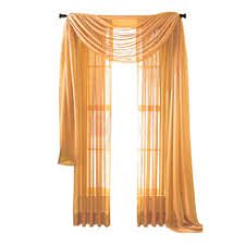 Burnt Orange Sheer Curtains Rust 216 Sheer Window Scarf Burnt Orange