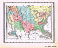 Map Of United States And Territories by Map Of Aboriginal America Showing The Distribution And