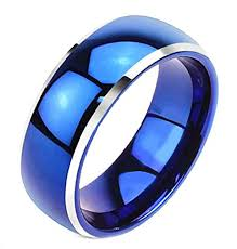 mens blue wedding bands 8mm unisex or men s tungsten wedding bands blue two tone with
