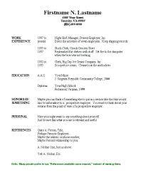 free basic resume templates download free sample resume templates
