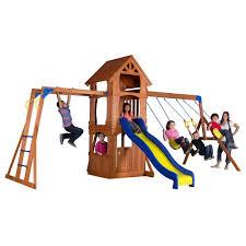 Backyard Cedar Playhouse by Backyard Discovery Shenandoah All Cedar Playset 65413com The