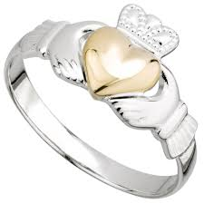 claddagh ring galway claddagh ring sterling silver and 10k gold heart claddagh