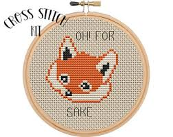 cross stitch kit etsy