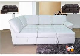 Sofa Bed Sleepers Modern White Leather Sofa Bed Sleeper Ansugallery Com