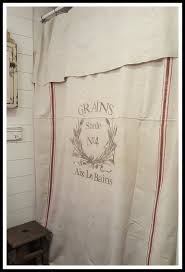 Feed Sack Curtains Grain Sack Window Or Shower Curtaingrains No4 Pattern