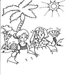 vacation coloring pages for free