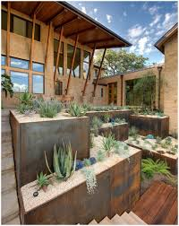 Backyard Idea by Backyards Bright Idea For A Raised Planter Box Decoration Patio