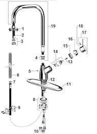 American Standard Kitchen Faucet Parts Diagram Order Replacement Parts For American Standard 4147 300 Culinaire