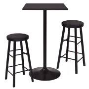 Black Bar Table 3 Bar Table Sets
