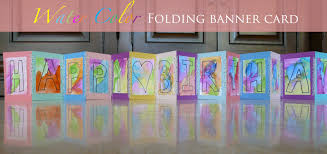 make folding water color birthday card banner