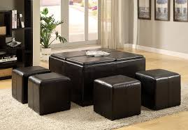 amazon com furniture of america 5 piece cocktail ottoman table
