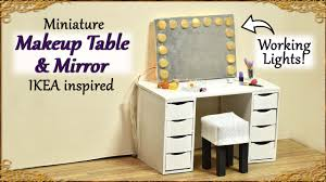 Make Up Tables Miniature Makeup Table U0026 Mirror With Working Lights Ikea