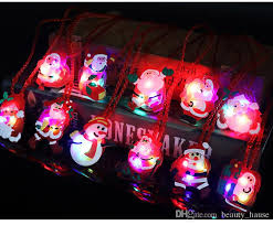 flashing christmas light necklace flashing light up christmas holiday necklaces for kids santa claus